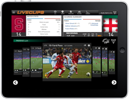 Web pages with embedded sports video clips