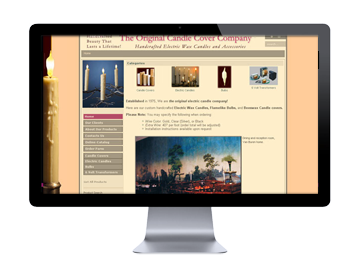 Example web site: Elcanco electric candle company