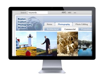 Example web site: Boston custom photography studio